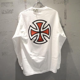 Independent Truck Co. BAR CROSS L/S T SHIRT WHITE