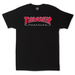 THRASHER MAGAZINE Outlined T-Shirt-Black
