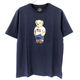 POLO RALPH LAUREN BOYS BEAR TEE-NAVY