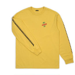 BRIXTON TOSH L/S STANDARD TEE - WASHED YELLOW