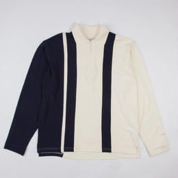 GRIND LONDON LS POLO - NAVY/WHITE