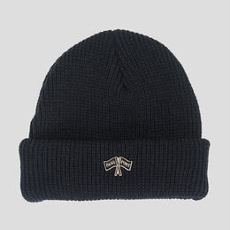 PASS~PORT  PP FLAGS PIN BEANIE - BLACK