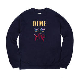 DIME VISAGE EMBROIDERED CREWNECK -Navy