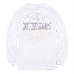 BUTTER GOODS KINGSTON OUTLINE L/S TEE-WHITE