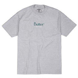 BUTTER GOODS CLASSIC WORLDWIDE LOGO TEE, HEATHER GREY