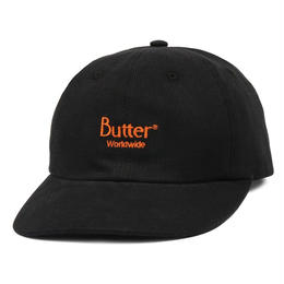 BUTTER GOODS CLASSIC LOGO CORD 6 PANEL CAP-BLACK
