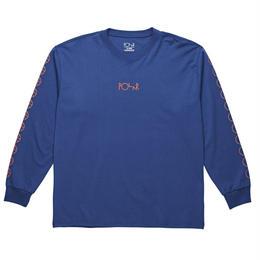POLAR SKATE CO RACING LONGSLEEVE-80's Blue / Orange