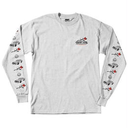 THE QUIET LIFE HEAVY SLIME LONG SLEEVE T - ASH