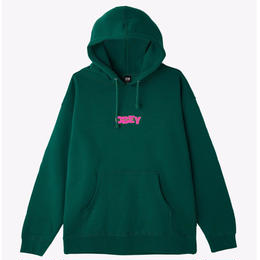 OBEY Ripped Basic Pullover-Dark Green