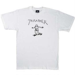 THRASHER  Gonz By Mark Gonzales T-Shirt WHITE