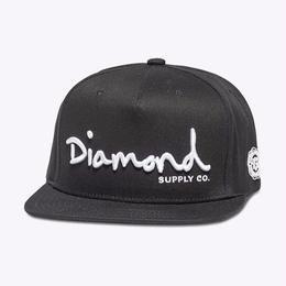 Diamond Supply Co. OG SCRIPT SNAPBACK-BLACK