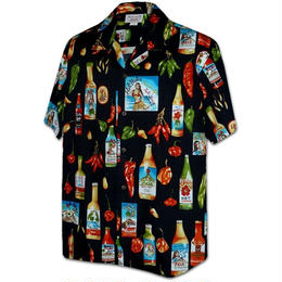 "PACIFIC LEGEND Hawaiian Shirts""Hot Sauce""-Black"