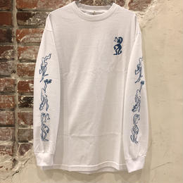 "PASS~PORT ""D.A.Y.W"" LONG SLEEVE TEE WHITE"