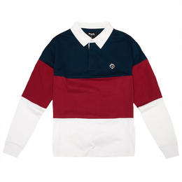 MAGENTA SKATEBOARDS LS POLO - TRICOLOR