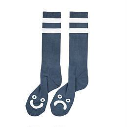 POLAR SKATE CO HAPPY SAD SOCKS - Captain's Blue