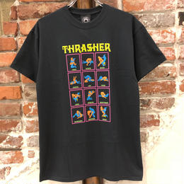 THRASHER BLACK LIGHT TEE-BLACK