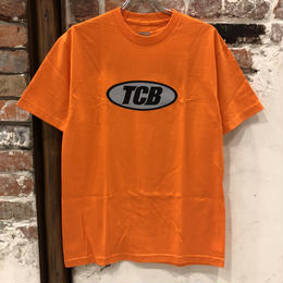 Tall Can Boys Metallic Over Logo Tee - Orange