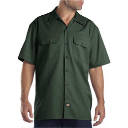 DICKIES Short Sleeve Work Shirt - HUNTER GREEN