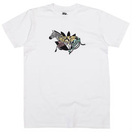 MAGENTA SKATEBOARDS ZEBRA TEE - WHITE