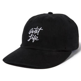 THE QUIET LIFE SCRIPT POLO HAT-BLACK