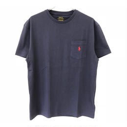 POLO RALPH LAUREN 1POINT POCKET TEE- INK NAVY