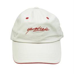 YARDSALE Script Hat Tan/strawberry