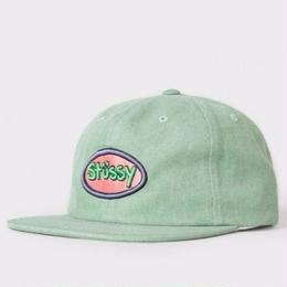STUSSY LOGO BADGE SNAPBACK- Green