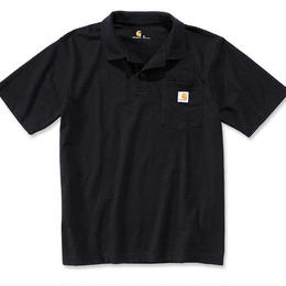 CARHARTT  POCKET POLO - BLACK