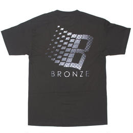 BRONZE56K B LOGO DIAMOND PLATE TEE - BLACK