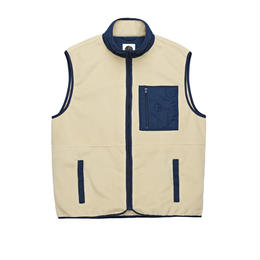POLAR SKATE CO STENSTRÖM FLEECE VEST-Sand / Navy