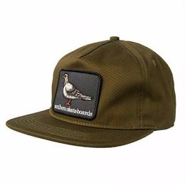 Anti Hero Pigeon Patch Snapback Hat-Olive