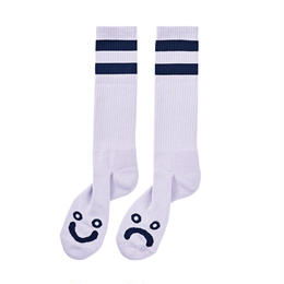 POLAR SKATE CO HAPPY SAD SOCKS - Lavender