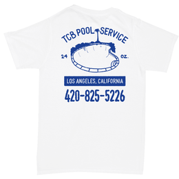 Tall Can Boys POOL SERVICE TEE-WHITE