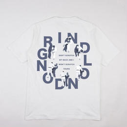 GRIND LONDON DON'T SCRATCH TEE-WHITE