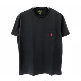 POLO RALPH LAUREN 1POINT POCKET TEE - BLACK