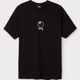 STUSSY 8 BALL STOCK TEE-BLACK