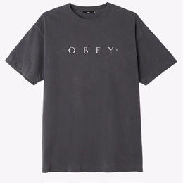 OBEY Novel OBEY Basic Pigment Tee-Dusty Black