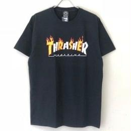 THRASHER FLAME MAG LOGO TEE - BLACK