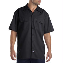 DICKIES Short Sleeve Work Shirt - BLACK