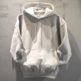 CHAMPION REVERSE WAVE PULLOVER HOODIE - GREY