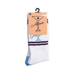 ALLTIMERS LEAGUE PLAYER SOCK - WHITE/BLUE/PURPLE
