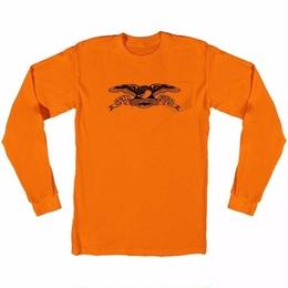 Anti Hero Basic Eagle Pocket Long Sleeve T-Shirt-Orange/Black