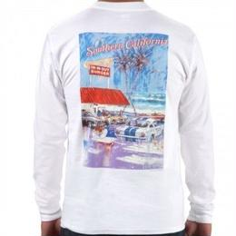 IN-N-OUT AT THE BEACH LONG SLEEVE TEE - WHITE