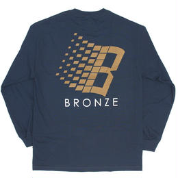 BRONZE56K B LOGO LONGSLEEVE - NAVY/BRONZE/ORANGE