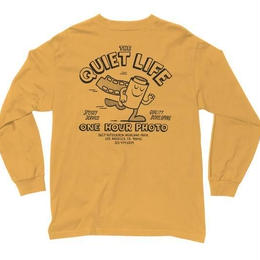 THE QUIET LIFE ONE HOUR PHOTO LONG SLEEVE TEE-YELLOW