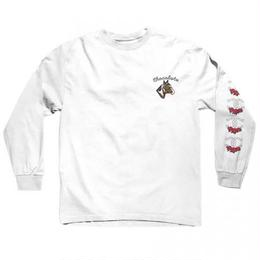 CHOCOLATE SKATEBOARDS STABLE L/S TEE -   WHITE