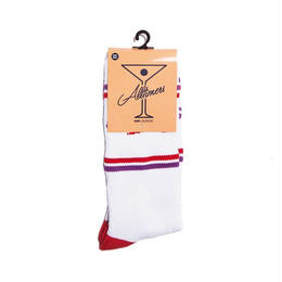 ALLTIMERS ESTATE SOCK WHITE/RED/PURPLE