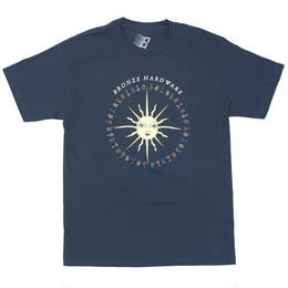BRONZE56K PEACE LOVE AND HARDWARE TEE - NAVY