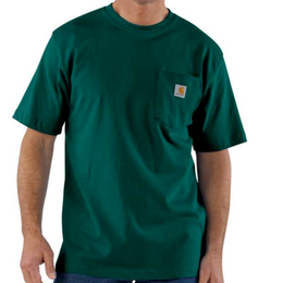 CARHARTT WORKWEAR POCKET T-SHIRT-Hunter Green
