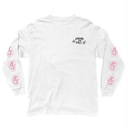 THE QUIET LIFE DRUNK AS HELL LONG SLEEVE T SP18-WHITE